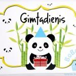 """Gimtadienio plakatas """"Panda"""""""