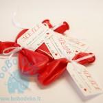 """Etiketės prie dovanėlių """"Meilė"""" 1vnt."""