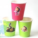 """Popieriniai puodeliai """"Maša ir Lokys"""" 10vnt."""