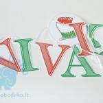 """Girlianda """"Viva Italia"""" 1vnt."""