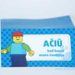 """""""Ačiū"""" kortelė """"Lego 2"""" 10vnt."""