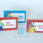 "Stalo kortelės ""Lego"" 5vnt."