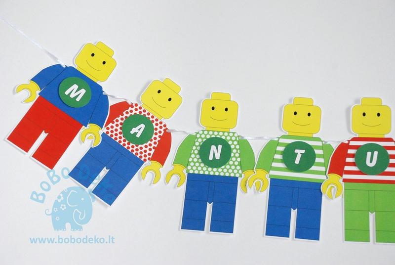 """Girlianda """"Lego"""", 1vnt."""
