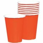 """Vienkartiniai puodeliai """"Oranžiniai"""", 8vnt."""