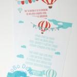 """Atvirutė-palinkėjimas """"Oro balionas"""", 1vnt."""