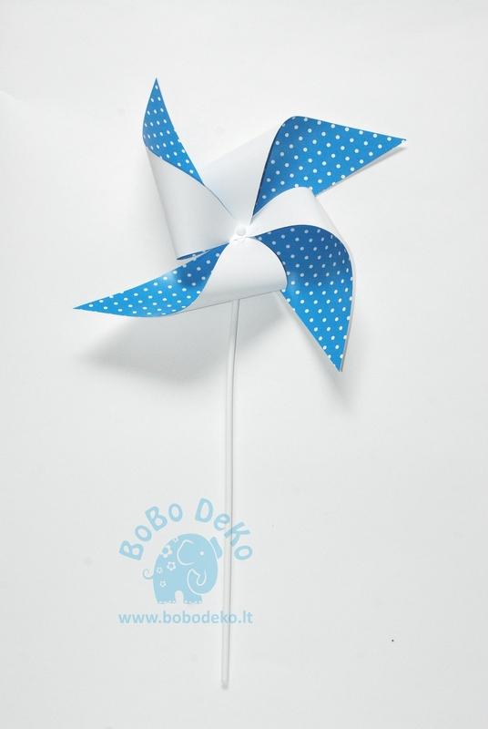 """Vėjo malūnėlis """"Mėlyni taškeliai"""", 1vnt."""