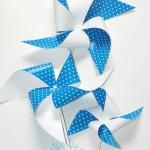 """Vėjo malūnėlis """"Mėlyni taškeliai"""", 3vnt."""