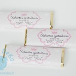 "Etiketės šokoladukams ""Princesė"", 1vnt."
