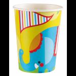 """Vienkartiniai puodeliai """"Cirkas"""", 8vnt."""