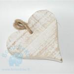 Medinė balta širdelė, 1vnt. (NUOMA)