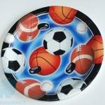 """Lėkštės """"Futbolas-krepšinis-regbis"""", 8vnt., 22.9 cm"""