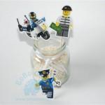 """Figūriniai smeigtukai """"Lego policija ir vagys"""", 10vnt."""