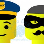 "Girlianda ""Lego policija ir vagys"", 1vnt."
