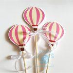 """Ilgi smeigtukai """"Rožiniai oro balionai"""", 3vnt."""