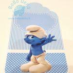 """Padėkos kortelė """"Smurfas"""", 1vnt."""